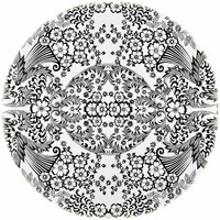Tafelzeil Rond - Ø 120 cm - Paraiso / Barok - Zwart