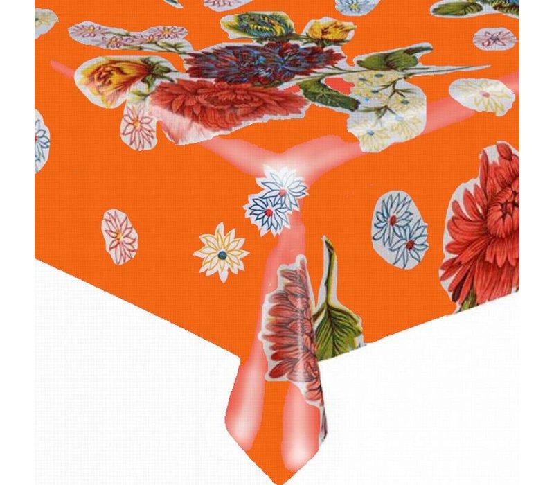 Mexicaans tafelzeil 2m bij 1.20m, Chrysant oranje