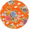 MixMamas Rond tafelzeil 120cm Chrysant oranje