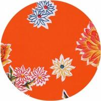 Tafelzeil Rond - Ø 120 cm - Chrysant - Oranje