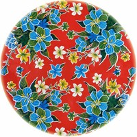 Mexicaans Tafelzeil Rond - Ø 120 cm - Fortin - Rood