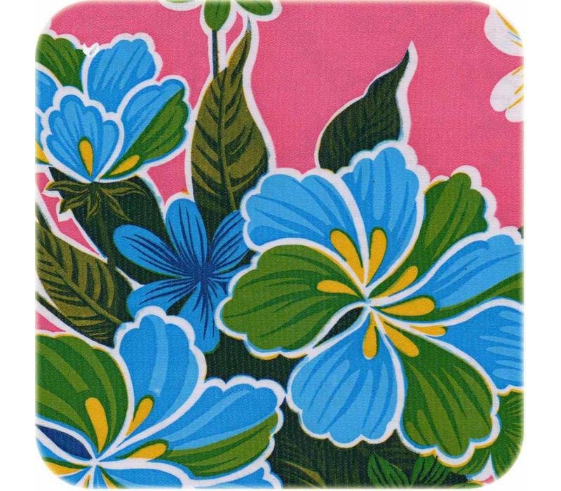 Mexicaans Tafelzeil Fortin Vierkant - 120 x 120 cm - Roze