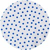 MixMamas Rond tafelzeil 120cm Stippen wit met donkerblauw