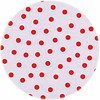 MixMamas Rond tafelzeil 120cm Stippen wit met rood