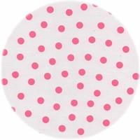 Tafelzeil Rond - Ø 120 cm - Stippen - Wit/Roze