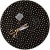 MixMamas Rond tafelzeil 120cm Stippen zwart met goud
