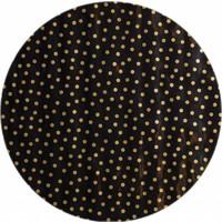 Rond tafelzeil 120cm Stippen zwart met goud