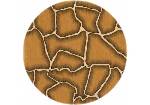 MixMamas Tafelzeil Rond - Ø 120 cm - Giraffe - Beige/Bruin