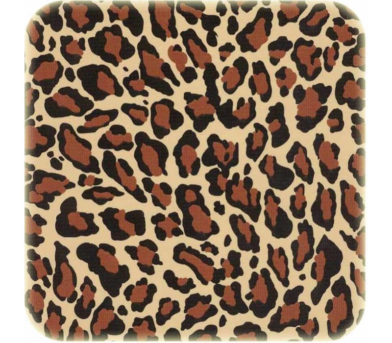 Rond tafelzeil 120cm Jaguarprint bruin