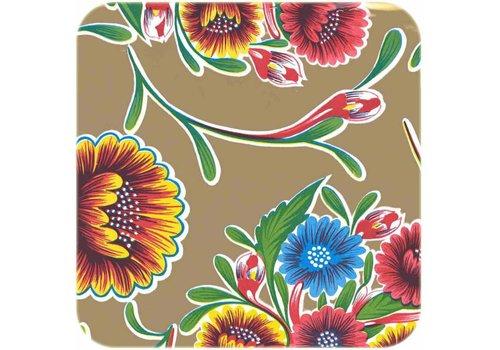 MixMamas Tafelzeil 3m Floral goud