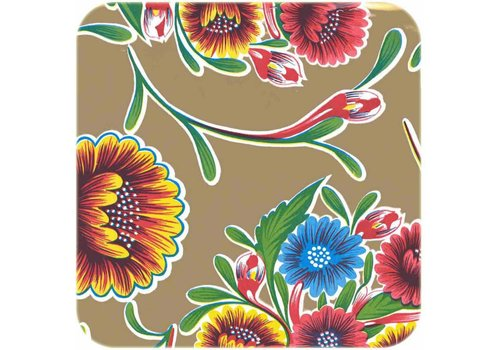 MixMamas Tafelzeil Bloom / Floral - 120 x 300 cm - Goud