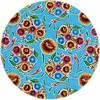 MixMamas Tafelzeil Rond - Ø 120 cm - Bloom / Floral - Lichtblauw