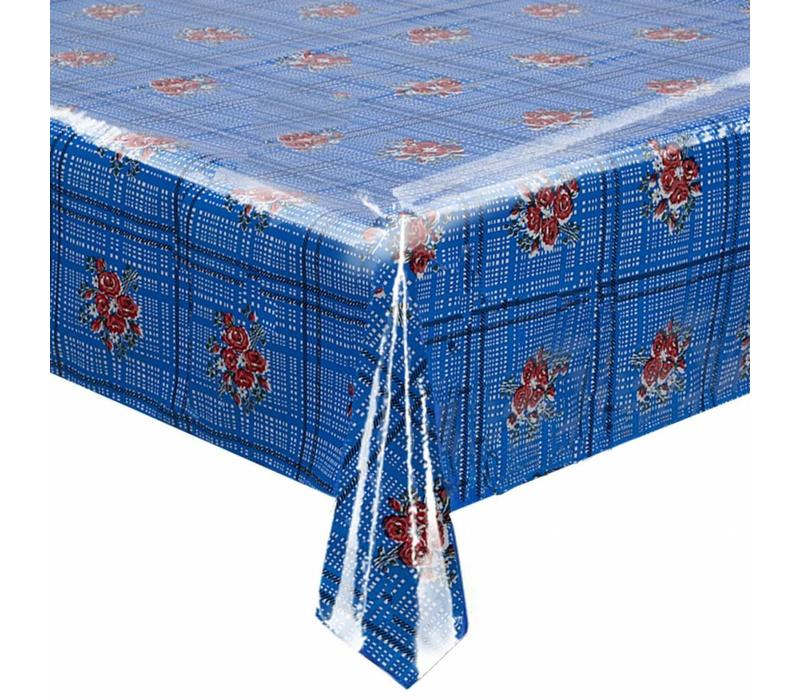 Tafelzeil Boeketje - 120 x 300 cm - Donkerblauw
