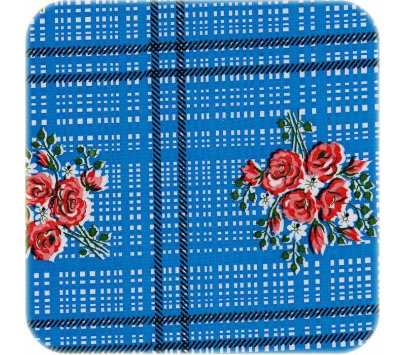 Mexicaans Tafelzeil 3m bij 1,20m Boeketje donkerblauw