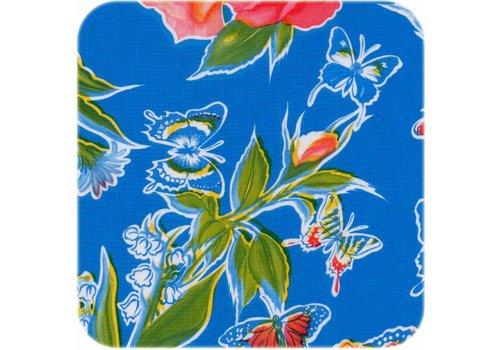 MixMamas Tafelzeil Vlinder - 120 x 300 cm - Blauw