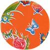 MixMamas Rond tafelzeil 120cm vlinder oranje