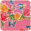 MixMamas Mexicaans Tafelzeil Vlinder - 120 x 300 cm - Roze