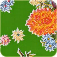 Mexicaans Tafelzeil 3m bij 1,20m Chrysant groen