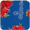 MixMamas Tafelzeil Orchidee - 120 x 300 cm - Donkerblauw