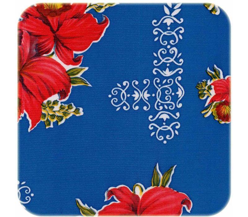 Mexicaans Tafelzeil 3m bij 1,20m Orchidee donkerblauw