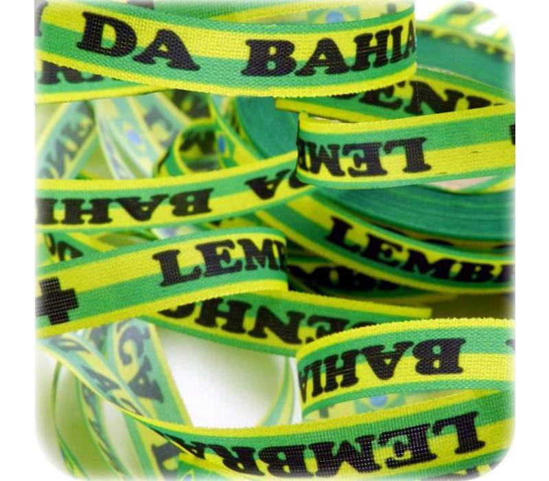 Bonfim lint - Set van 20 Bonfim Lintjes 43 cm - Brazil - Groen/Geel