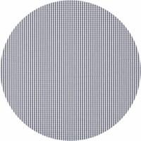 Gecoat rond tafelkleed met bies Ruitje grijs 140cm