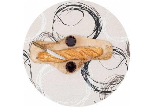 MixMamas Gecoat rond tafelkleed Painted Circles 140cm