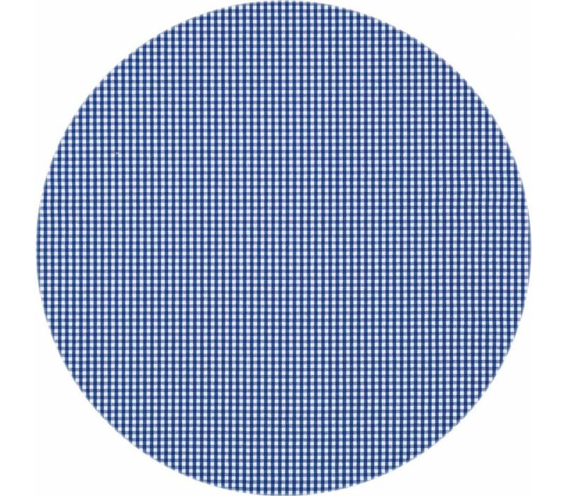 Rond Tafelkleed Gecoat - Ø 160 cm - Ruitje - Donkerblauw