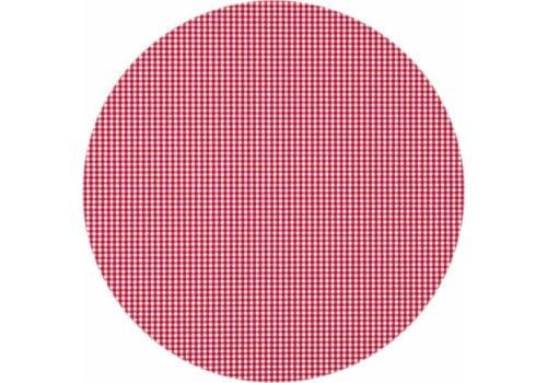 MixMamas Gecoat rond tafelkleed Ruitje rood 160cm