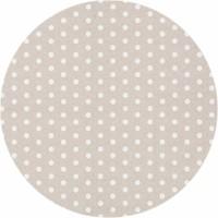 Rond Tafelkleed Gecoat - Ø 160 cm - Stippen - Beige/Wit