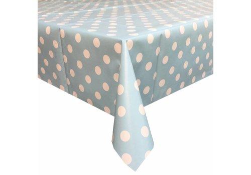 MixMamas Tafelzeil Grote Stip - Rol - 140 cm x 20 m - Lichtblauw/Wit