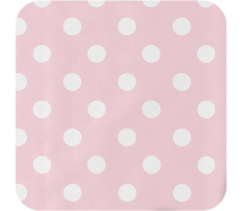 Tafelzeil Grote Stip - 140 x 250 cm - Roze/Wit