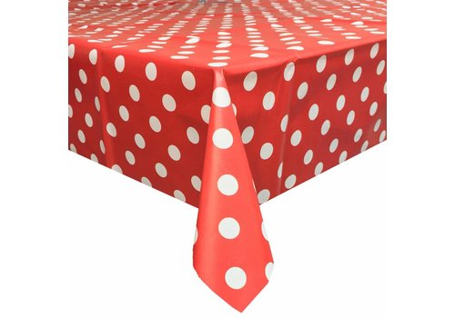 MixMamas Tafelzeil Grote Stip - Rol - 140 cm x 20 m - Rood/Wit