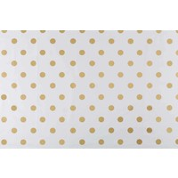 Tafelzeil Rond - Ø 140 cm - Grote Stip - Wit/Goud
