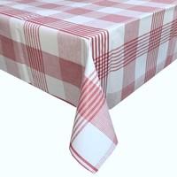 Europees Eco tafelzeil theedoek rood rond 140cm
