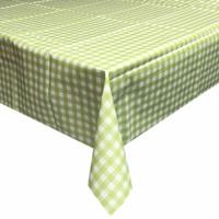 Europees Eco tafelzeil ruitje lichtgroen rond 140cm