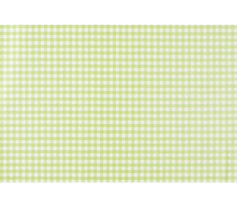 Tafelzeil Rond - Ø 140 cm - Ruitje - Lichtgroen