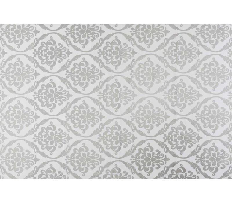 Tafelzeil Barok - 140 x 200 cm - Zilver/Wit