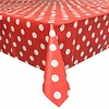 MixMamas Tafelzeil Grote Stip - 140 x 250 cm - Rood/Wit