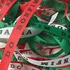 MixMamas Bonfim lint - Set van 20 Bonfim Lintjes 43 cm - Italiaans - Rood/Wit/Groen