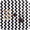 MixMamas Mexicaans Tafelzeil Zigzag - 120 x 250 cm - Zwart