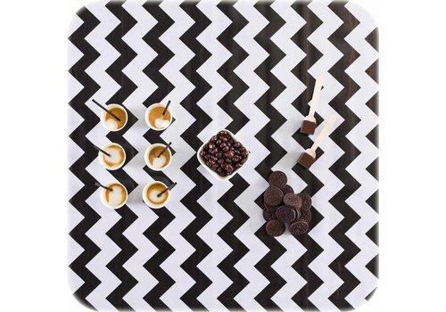 MixMamas Tafelzeil Zigzag - 120 x 250 cm - Zwart