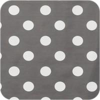 Tafelzeil Grote Stip - Rol - 140 cm x 20 m - Grijs/Wit