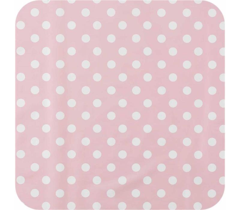 Tafelzeil Grote Stip - 140 x 300 cm - Roze/Wit