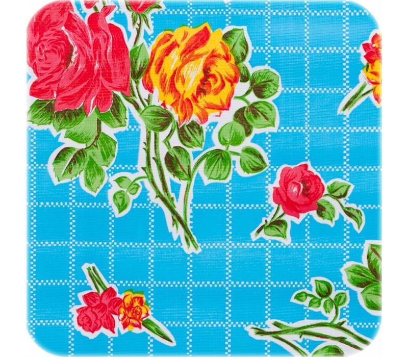 Mexicaans tafelzeil op rol 11m Rosedal lichtblauw