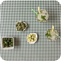 Mexicaans tafelzeil op rol 11m Ruit donker groen