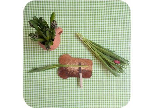 MixMamas Tafelzeil op rol Ruit limoen groen