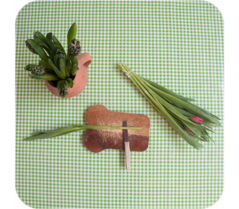 Mexicaans tafelzeil op rol 11m Ruit limoen groen