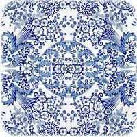 Mexicaans tafelzeil op rol 11m Paraiso blauw