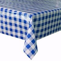 Mexicaans tafelzeil op rol 11m Ruit groot d-blauw 11m